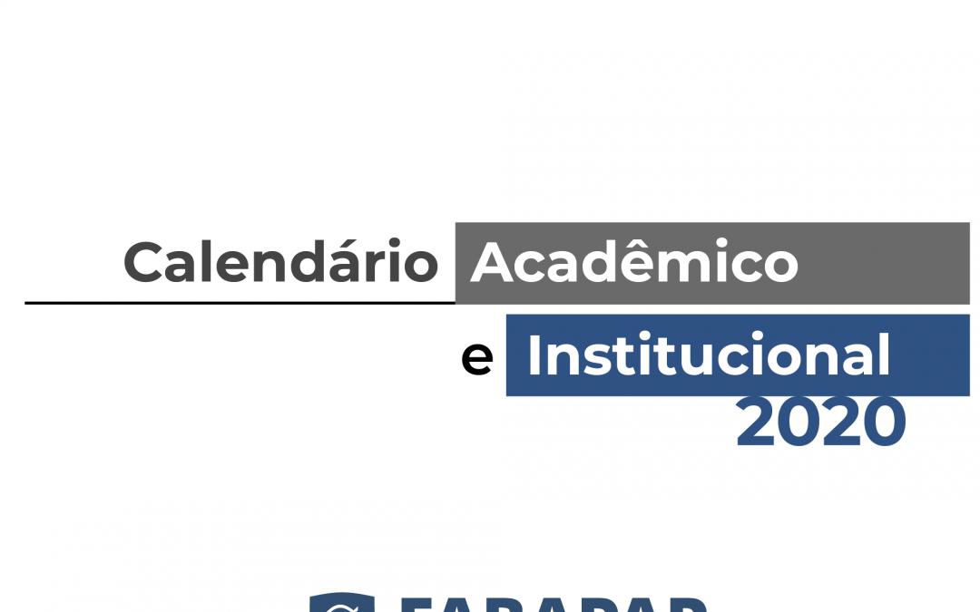 Calendário Institucional e Acadêmico